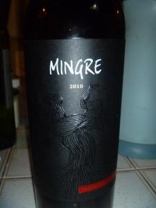Mingre, a premium wine from Gilmore, 40% cabernet sauvignon, 30% syrah, 30% carmenere