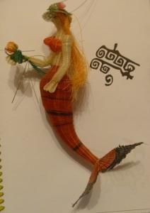 Mermaid of woven horsehair.