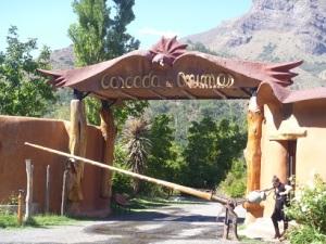 Raising the bar at Cascada de las Animas--beautiful metal work by Taller Pangal.