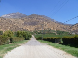 Vina El Principal, also known as the very far end of the Pirque Valley. From here the roads only go back.