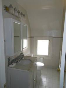 Upstairs bathroom that we completely remodeled.