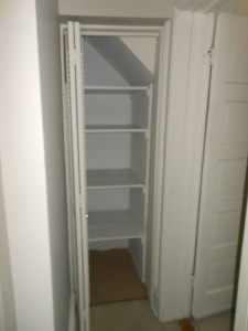 Linen closet upstairs.