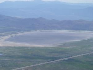 Washoe Lake is empty.