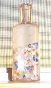 beach glass bottle