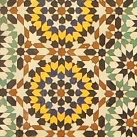 This is a Moroccan mosaic.
