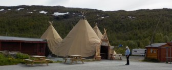 These are nice-looking tents, but the contents are clearly tourist kitsch. I'm not sure there was much in here that is actually made in Norway other than the reindeer jerky.