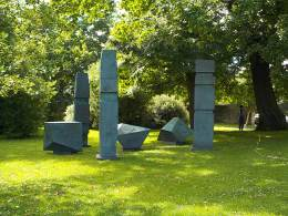 by Barbara Hepworth. It looks archaeological.