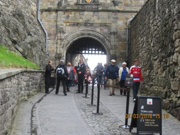The portcullis is still the entrance.