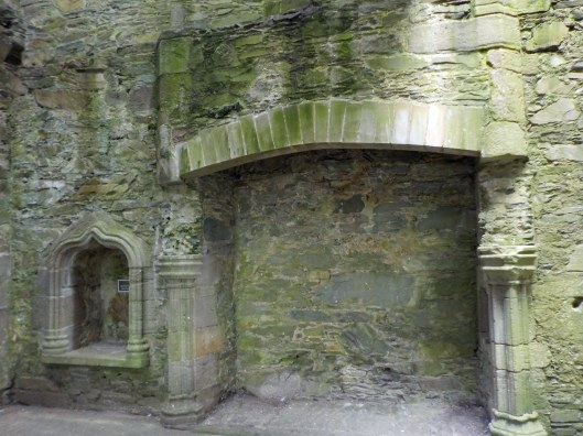 Decorative details of the fireplace area showed off the McCulloch wealth.