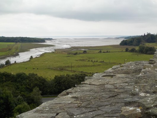 The view from the top with Solway Firth in the distance. Cardoness Castle had a strategic location.