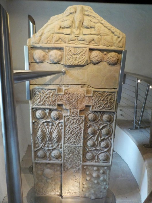Nigg Old Church stone. The crosses are the most elaborate of the Pictish stones.