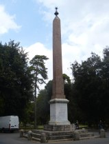 Placed in Piazza Bucharest (Viale del Obelisco) in the Pincio park in 1822. Found in 16th c. outside Porta Maggiore,may have decorated Circus Varianus. Hieroglyphs suggest it was originally erected by Hadrian on the tomb of his lover Antinous, who drowned in the Nile in AD 130. Transported from Egypt by Heliogabalus in the 3rd c. AD.