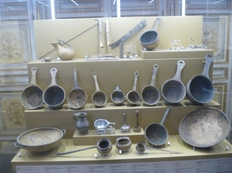 The objects in these two photos are just a fraction of the Etruscan artifacts on display at the Vatican.