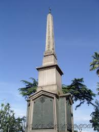 The Dogali monument includes an obelisk, in the Piazza della Repubblica, just outside the Baths of Diocletian, placed in 1887 as part of a war monument. The obelisk itself was found in 1884, though. it was originally part of the temple of Isis in Rome and has a companion in Florence. The hieroglyphs carved on this obelisk were inscribed in honor of Ramses the Great or Seti I around 1300 BC.