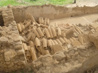 Heating pipes of a Greek bath house
